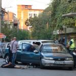 полицеска акция пред гимназията, пострада пешеходец
